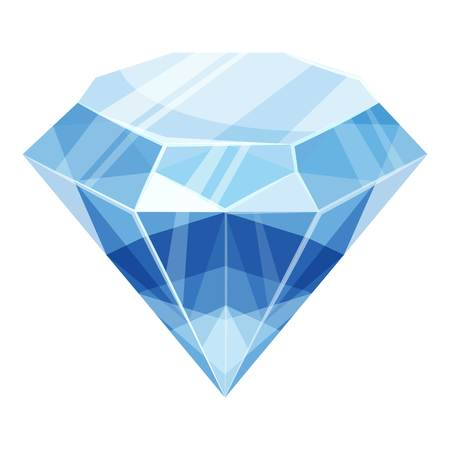 Diamond icon. Cartoon illustration of diamond icon for web Imagens