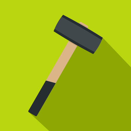 Sledgehammer icon. Flat illustration of sledgehammer icon for web