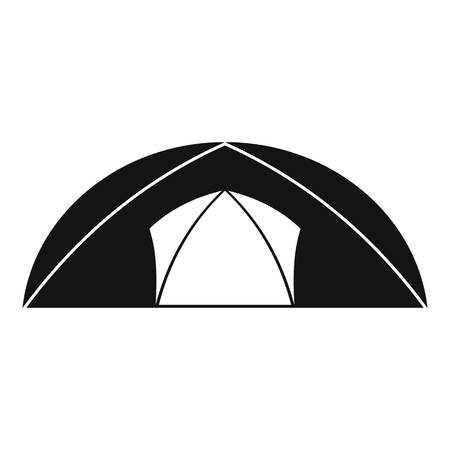 Dome tent for camping icon. Simple illustration of dome tent for camping icon for web Фото со стока