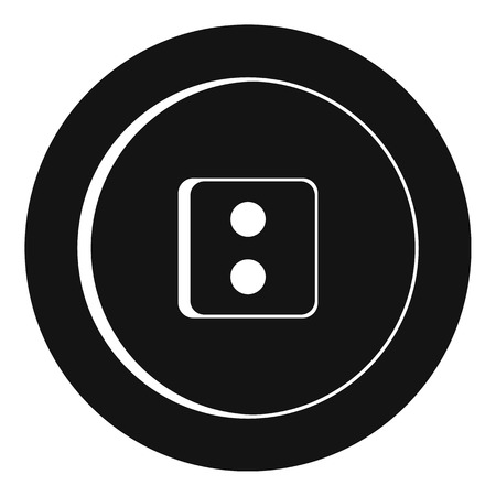 Dress round button icon, simple style