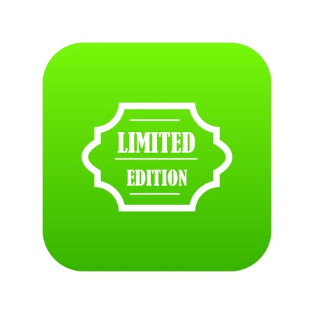 Limited edition icon digital green for any design isolated on white vector illustration Stock Illustratie