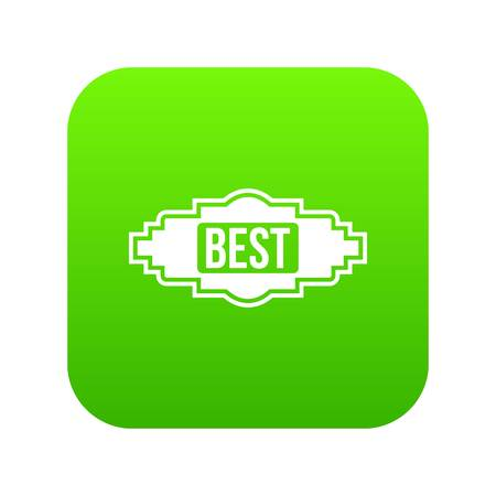 Best label icon digital green for any design isolated on white vector illustration Stock Illustratie
