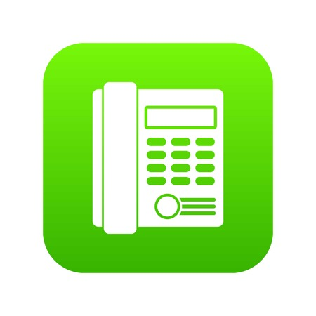 Office business keypad phone icon digital green for any design isolated on white vector illustration