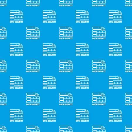 Data security pattern vector seamless blue Illustration