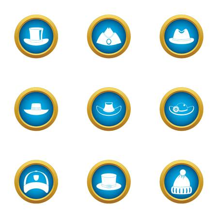 Attire icons set. Flat set of 9 attire vector icons for web isolated on white background