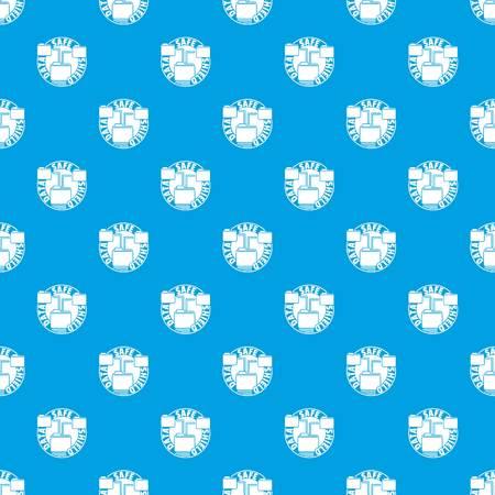 Data save shield pattern vector seamless blue Illustration