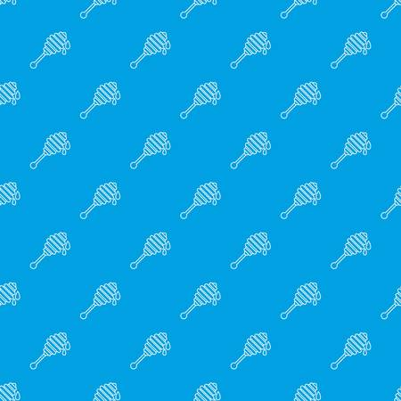 Honey ladle pattern vector seamless blue repeat for any use Illustration