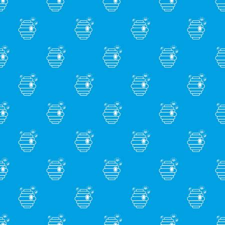 Swarm pattern vector seamless blue repeat for any use