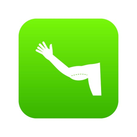 Flabby arm cosmetic correction icon digital green Illustration