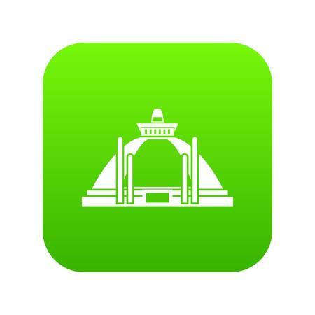 Polonnaruwa, ancient stupa icon digital green  イラスト・ベクター素材