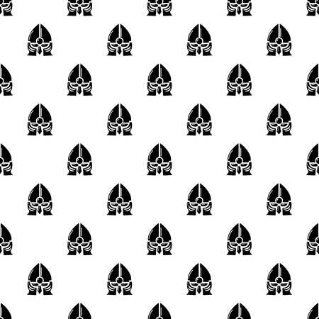Historical knight helmet pattern vector seamless