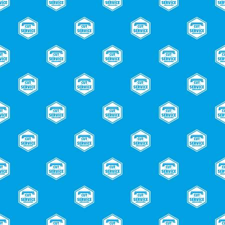Cut service pattern vector seamless blue