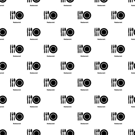 Restaurant pattern vector seamless repeating for any web design Stock Illustratie