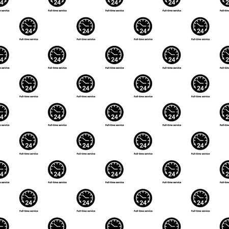 Full time service pattern vector seamless repeating for any web design