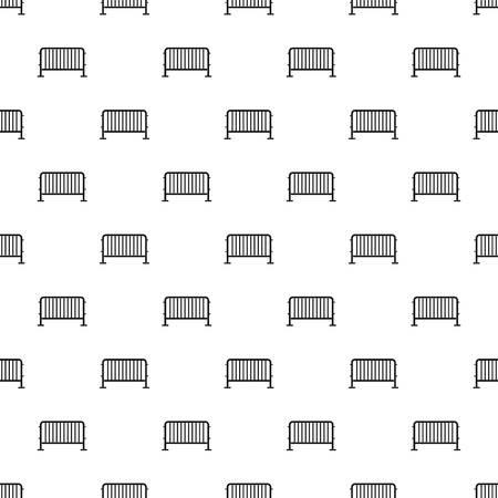 Steel barrier pattern