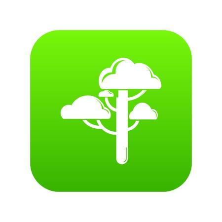 Cloud tree icon green