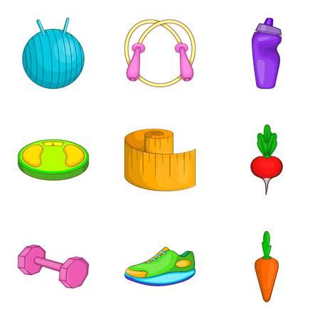 Enlightenment icons set, cartoon style Stock Photo