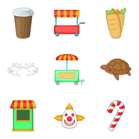 Domesticate animal icons set. Cartoon set of 9 domesticate animal icons for web isolated on white background
