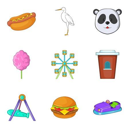 Brute animal icons set. Cartoon set of 9 brute animal icons for web isolated on white background Stock Photo