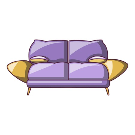 Mini sofa icon, cartoon style Foto de archivo - 109702584