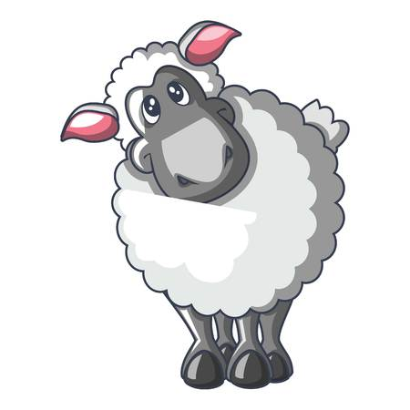 Sheep icon, cartoon style