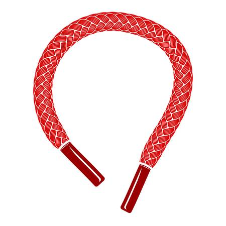 Red shoelace icon, simple style Stock Photo