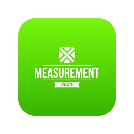 Ruler icon green Stockfoto