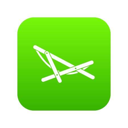 Beach chaise icon digital green