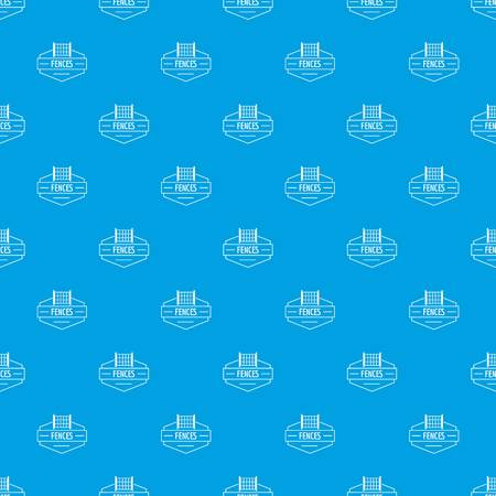 Fence metal pattern seamless blue repeat for any use Stock Photo