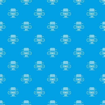 Fence modern pattern seamless blue repeat for any use