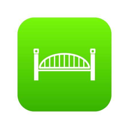 Modern arch bridge icon green isolated on white background