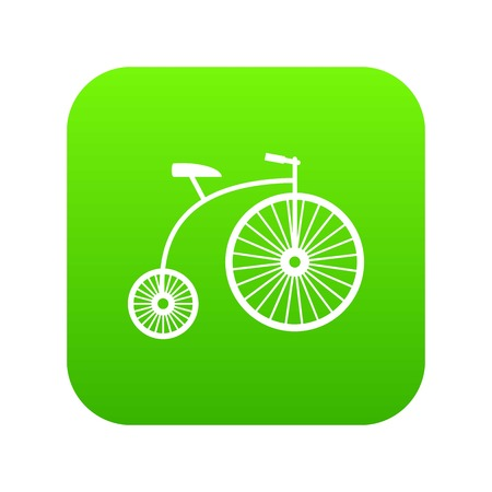 Penny-farthing icon digital green for any design isolated on white illustration