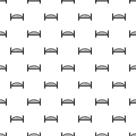 Modern arch bridge pattern seamless repeating for any web design Stock Photo