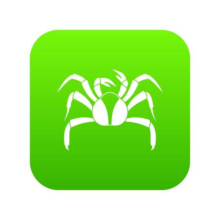 Crab sea animal icon digital green for any design isolated on white illustration