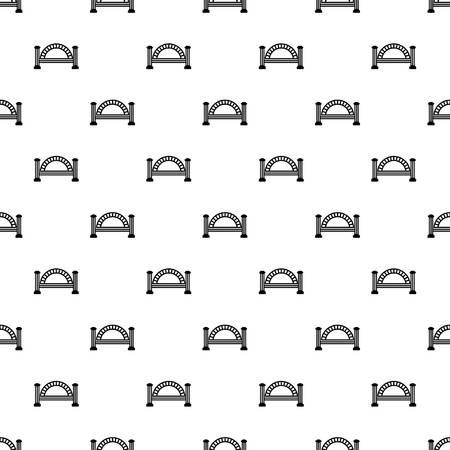 Metallic bridge pattern seamless repeating for any web design