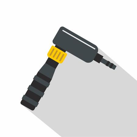 Hand draw rotary tattoo machine icon. Flat illustration of hand draw rotary tattoo machine icon for web on white background 版權商用圖片