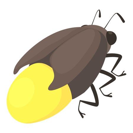 Firefly bug icon, cartoon style