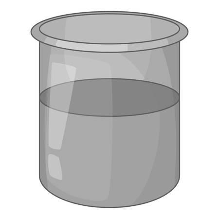 Glass jar icon monochrome