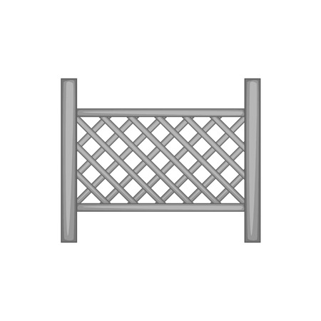 Grid of wooden fence icon monochrome