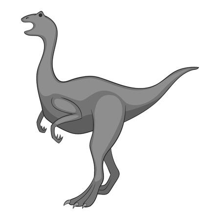 Allosaurus icon in monochrome style isolated on white background illustration