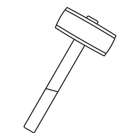 Sledgehammer icon in outline style isolated illustration Stock Photo