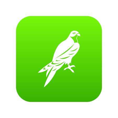 Falcon icon digital green for any design isolated on white vector illustration