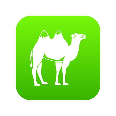 Camel icon digital green for any design isolated on white vector illustration