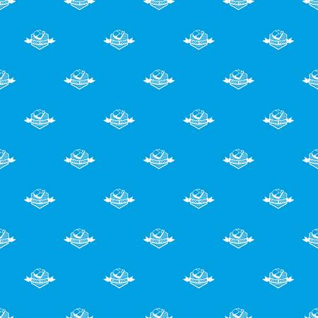 Meat good food pattern vector seamless blue