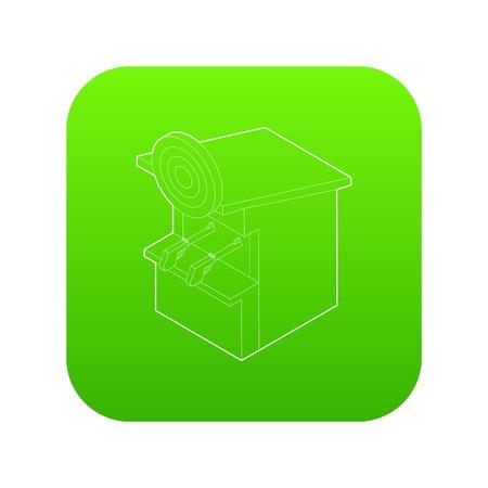 Shooting gallery icon green vector