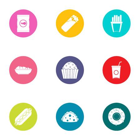 Admixture icons set. Flat set of 9 admixture vector icons for web isolated on white background Illustration