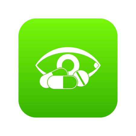 Treatment of the eye icon digital green