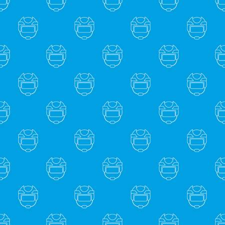 Hockey helmet pattern vector seamless blue 向量圖像