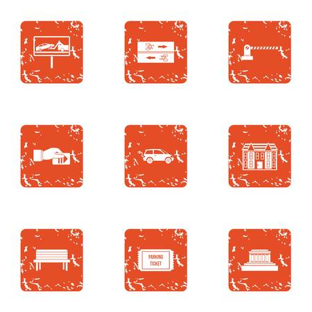 Lay icons set. Grunge set of 9 lay vector icons for web isolated on white background