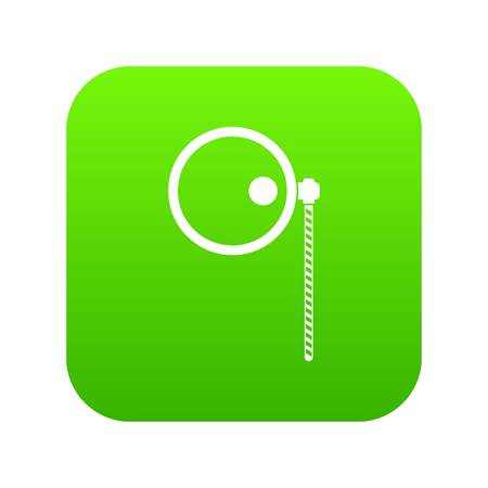 Monocle icon digital green for any design isolated on white vector illustration